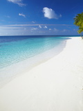 Tropical Island and Lagoon  Ari Atoll  Maldives  Indian Ocean  Asia