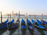 Gondolas on the Lagoon  San Giorgio Maggiore in the Distance  Venice  Veneto  Italy