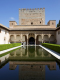 Patio De Los Arrayanes and Comares Tower  Alhambra Palace  Granada  Andalucia  Spain