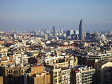 View From the Top of the Sagrada Familia  Barcelona  Catalonia  Spain  Europe