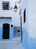 Painted Blue Street and Steps  Chefchaouen  Morocco  North Africa  Africa
