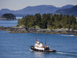 Tugboat in Sitka Sound  Baranof Island  Southeast Alaska  United States of America  North America