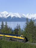 Alaska Railroad Near Girdwood  Alaska  United States of America  North America