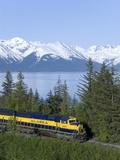 Alaska Railroad Near Girdwood  Alaska  United States of America  North America