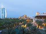 Burj Al Arab and Madinat Jumeirah Hotels at Dusk  Dubai  United Arab Emirates  Middle East