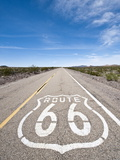 Historic Route 66 Sign Near Amboy  California  USA