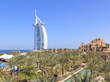 Burj Al Arab Viewed From the Madinat Jumeirah Hotel  Jumeirah Beach  Dubai  Uae