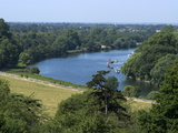 View Over the Thames From Richmond Hill  Richmond  Surrey  England  Uk