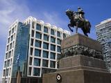 Statue of Jose Gervasio Artigas in Plaza Independencia  Old City District  Montevideo  Uruguay