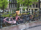 Pink Bicycle  Brouwersgracht  Amsterdam  Netherlands  Europe