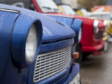 The Old Trabant Automobiles  Produced in the Former East Germany  Berlin  Germany  Europe