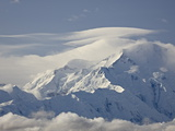 Mount Mckinley Among Clouds  Denali National Park and Preserve  Alaska  USA