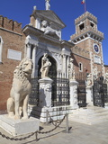 The Porta Magna  Arsenal  Venice  UNESCO World Heritage Site  Veneto  Italy  Europe