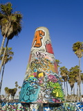 Art Walls  Legal Graffiti  on Venice Beach  Los Angeles  California  USA