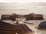 Berber Tents  Ong El Jemel  Nefta  Sahara Desert  Tunisia  North Africa  Africa