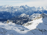 Mountain Scenery in Cervinia Ski Resort  Cervinia  Valle D'Aosta  Italian Alps  Italy  Europe