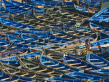 Fishing Boats in the Coastal City of Essaouira  Morocco  North Africa  Africa