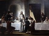The Last Supper By Henri Lerolle  a 19th Century Oil Painting  Saint-Francois-Xavier Church  Paris