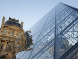 Pyramid Designed By Leoh Ming Pei  Louvre Museum  Paris  France  Europe