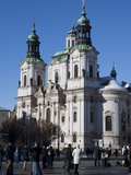 St Nicholas Church  Old Town Square  Prague  Bohemia  Czech Republic  Europe