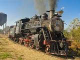 Old Steam Locomotive  Trinidad  Cuba  West Indies  Caribbean  Central America