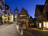 Ploenlein  Siebers Tower  Rothenburg Ob Der Tauber  Franconia  Bavaria  Germany  Europe