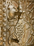 Detail on Bronze Doorway  Royal Palace  Fez-El-Jedid  Fez (Fes)  Morocco  North Africa  Africa