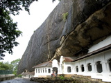 Exterior of Royal Rock Cave Temples  in Natural Caves in Granite  Dambulla  Sri Lanka  Asia