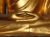 Detail of Mudra  Buddha Statue  Paris  France  Europe