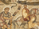 Part of the Amphitrite Roman Mosaic  House of Amphitrite  Bulla Regia Archaeological Site  Tunisia