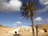 Troglodyte Pit Home  Berber Underground Dwelling in the Desert  Matmata  Tunisia