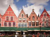 The Markt (Main Market Place)  Bruges  Belgium  Europe