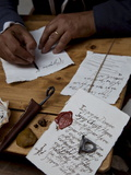 Ancient Style of Writing During An Historical Reenactment at Venice Arsenale  Venice  Veneto  Italy