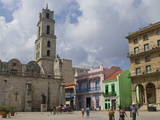Plaza Vieja  UNESCO World Heritage Site  Havana  Cuba  West Indies  Caribbean  Central America