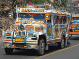 Typical Painted Jeepney (Local Bus)  Baguio  Cordillera  Luzon  Philippines  Southeast Asia  Asia