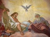Jesus  God and the Holy Spirit  Franciscan Church of Vienna  Vienna  Austria  Europe