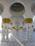 Gilded Columns of Sheikh Zayed Bin Sultan Al Nahyan Mosque  Abu Dhabi  United Arab Emirates