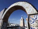 Minaret of the Great Mosque (Jamaa El Zitouna)  Medina  UNESCO World Heritage Site  Tunis  Tunisia