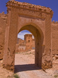 Entrance Gate to An Old Ksar Near Taroudannt  Morocco  North Africa  Africa