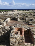 Phoenician Ruins With Mediterranean Sea Beyond  Kerkouane Archaeological Site  Tunisia