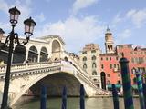 Rialto Bridge  Grand Canal  Venice  UNESCO World Heritage Site  Veneto  Italy  Europe