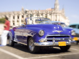 Restored Classic American Car Being Used As a Taxi For Tourists  Havana  Cuba