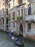 Gondola on a Canal  Venice  UNESCO World Heritage Site  Veneto  Italy  Europe