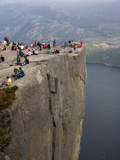 Preikestolen Rock  Lysefjorden  Rogaland  Norway  Scandinavia  Europe