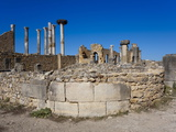 The Capitol  Roman Ruins  Volubilis  UNESCO World Heritage Site  Morocco  North Africa  Africa