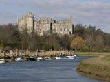 Arundel Castle and River Arun  West Sussex  England  United Kingdom  Europe