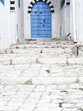 Blue Door and Steps  Sidi Bou Said  Tunisia  North Africa  Africa
