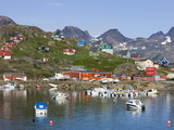 Harbour and Village  Ammassalik  Greenland  Arctic  Polar Regions