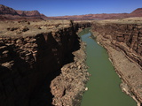Colorado River Winds Through the Sheer Cliffs of Marble Canyon  South of the Grand Canyon  Arizona