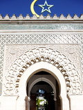 Main Door of the Paris Great Mosque  Paris  France  Europe